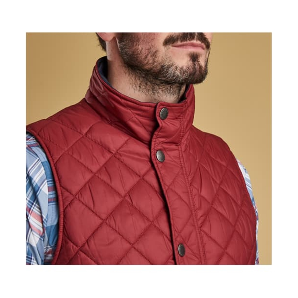 Spring 2019 Barbour Men's Quilted Gilet - Ampleforth - Biking Red