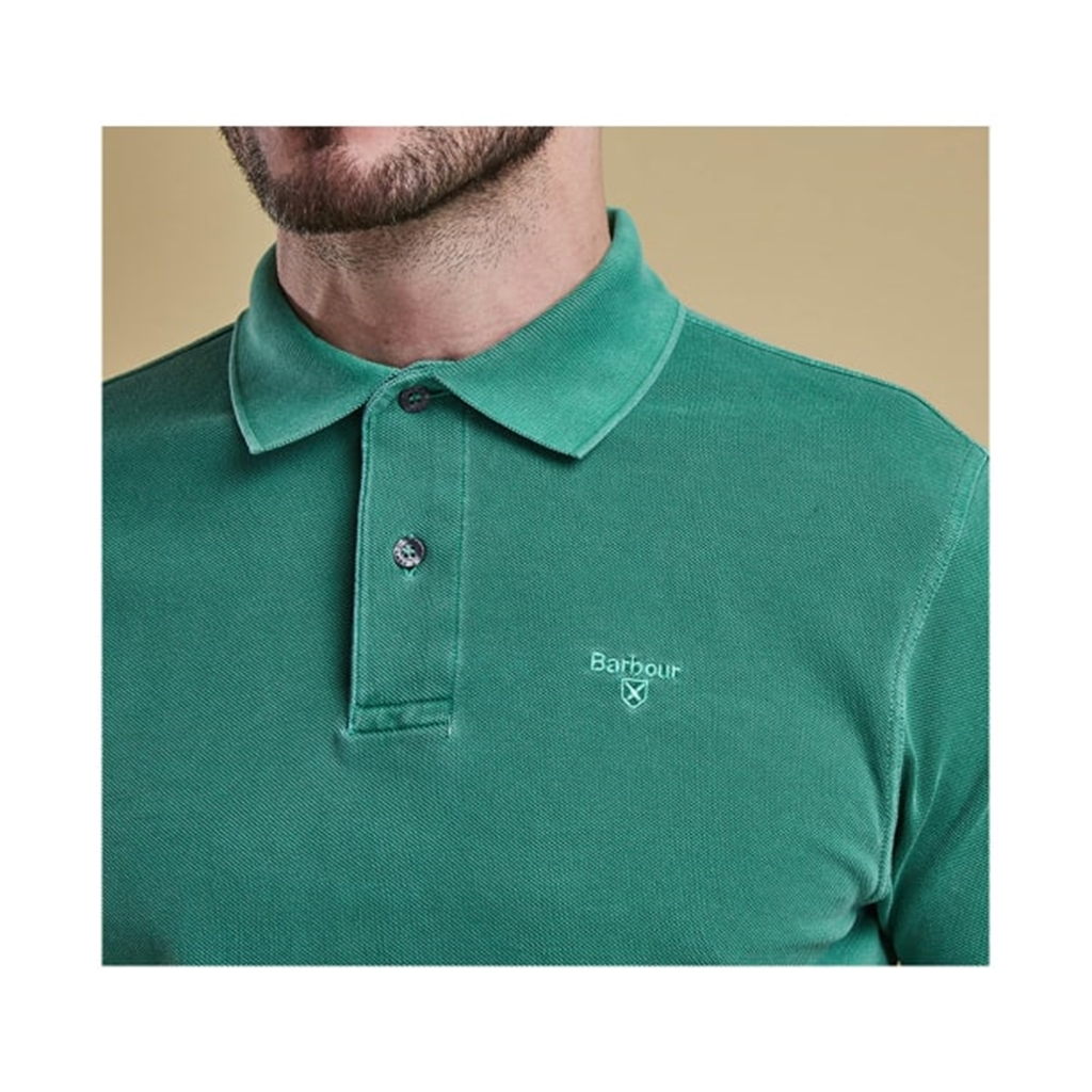 Spring 2019 Barbour Men's Washed Sports Polo-Shirt - Turf Green