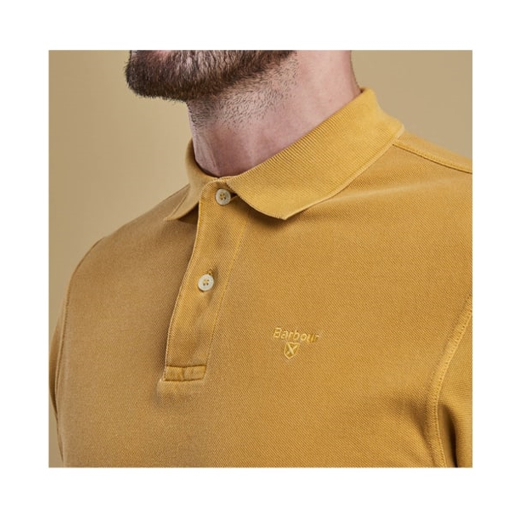 Spring 2019 Barbour Men's Washed Sports Polo-Shirt - Mustard