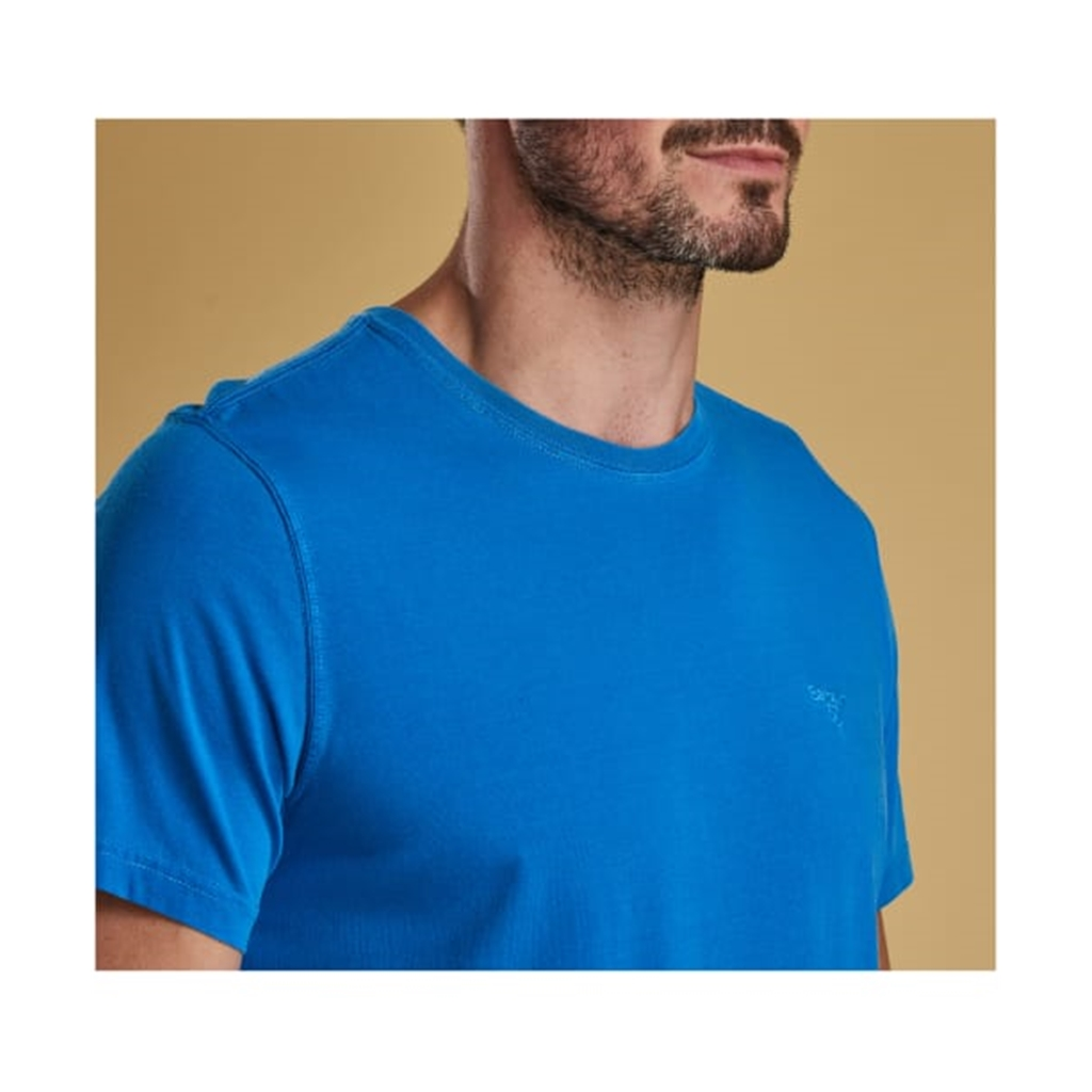 Spring 2019 Barbour Men's Garment Dyed T-Shirt - Sport Blue