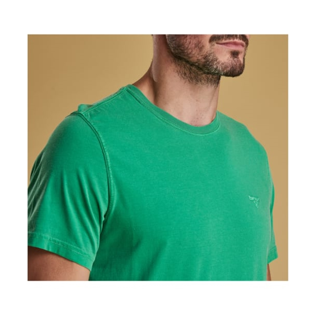 New 2019 Barbour Men's Garment Dyed T-Shirt - Bright Green