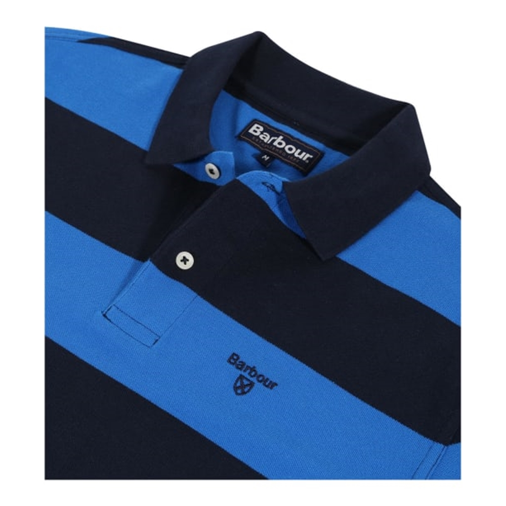 Spring 2019 Barbour Men's Harren Stripe Polo-Shirt - Sport Blue