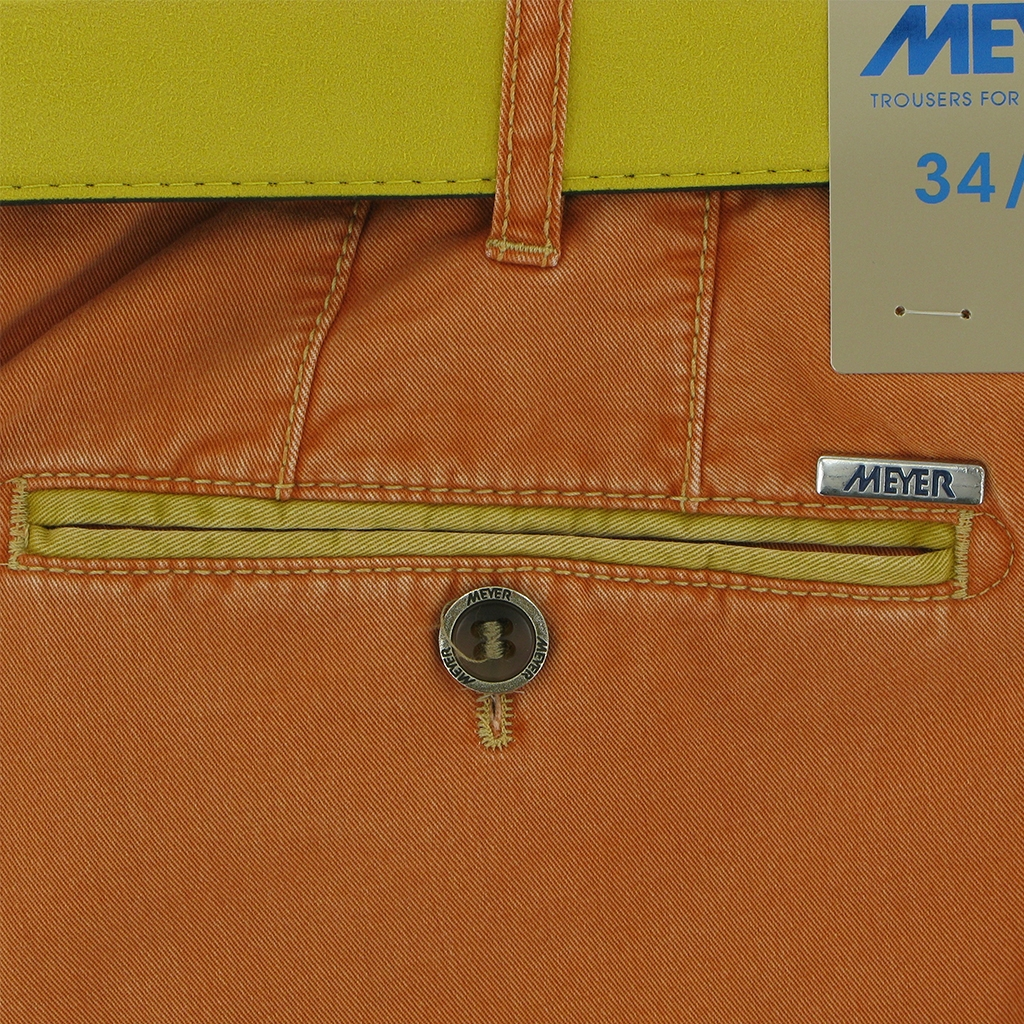 Meyer Summer Cotton Trouser - Mandarin - New York 5001 46