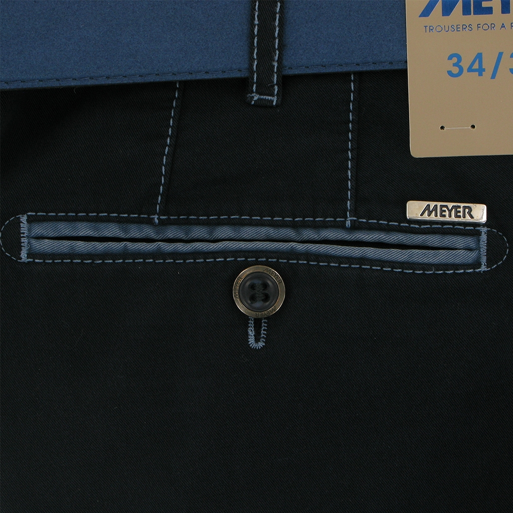 New 2019 Meyer Summer Cotton Trouser - Navy - New York 5001 19