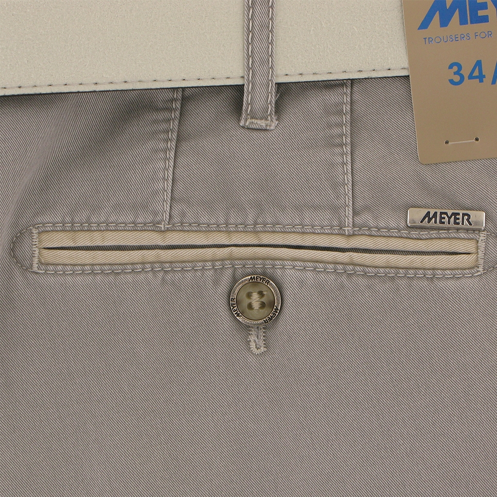 New 2019 Meyer Summer Cotton Trouser - Dove Grey - New York 5001 31