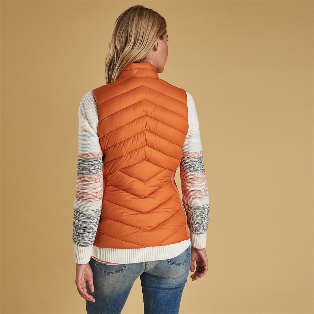 New 2019 Barbour Women's Gilet - Pebble - Marigold