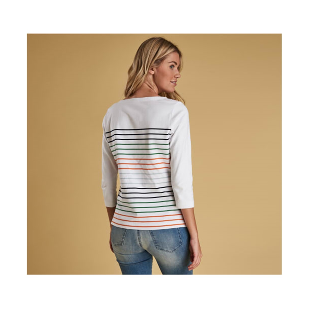 New 2019 Barbour Women's Top - Littlehampton - White