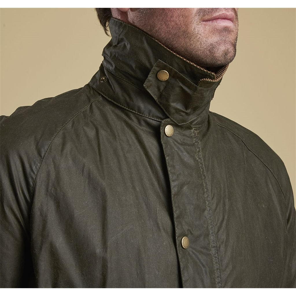 Spring 2019 Barbour Men's Lightweight 4oz Waxed Cotton Jacket - Ashby - Olive