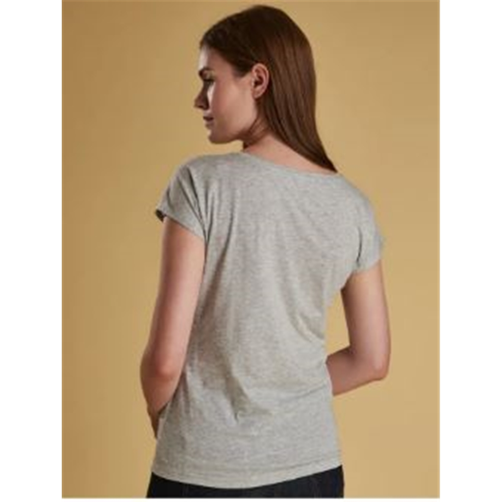 New 2019 Barbour Women's Tee - Wansfell - Grey