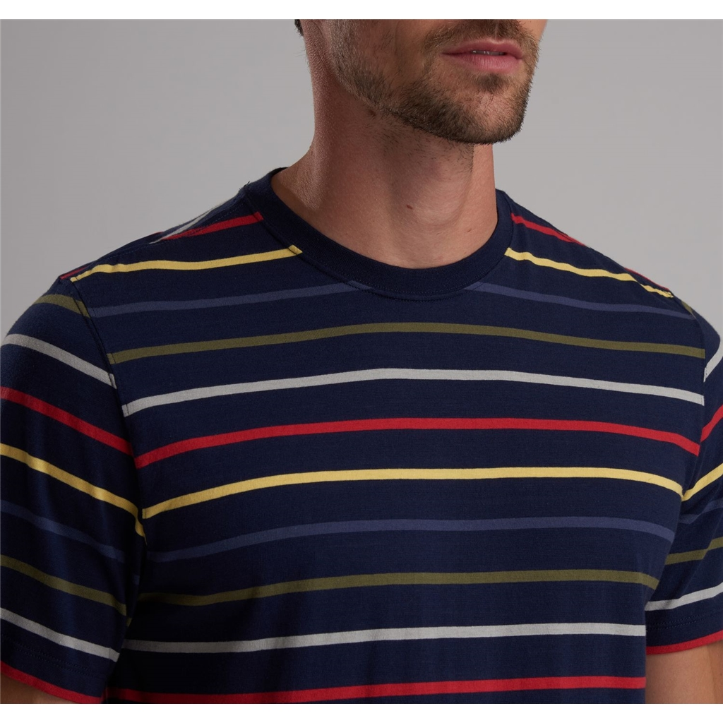 Spring 2019 Barbour International Men's Steve McQueen Striped T-Shirt - Radial - Dress Blue