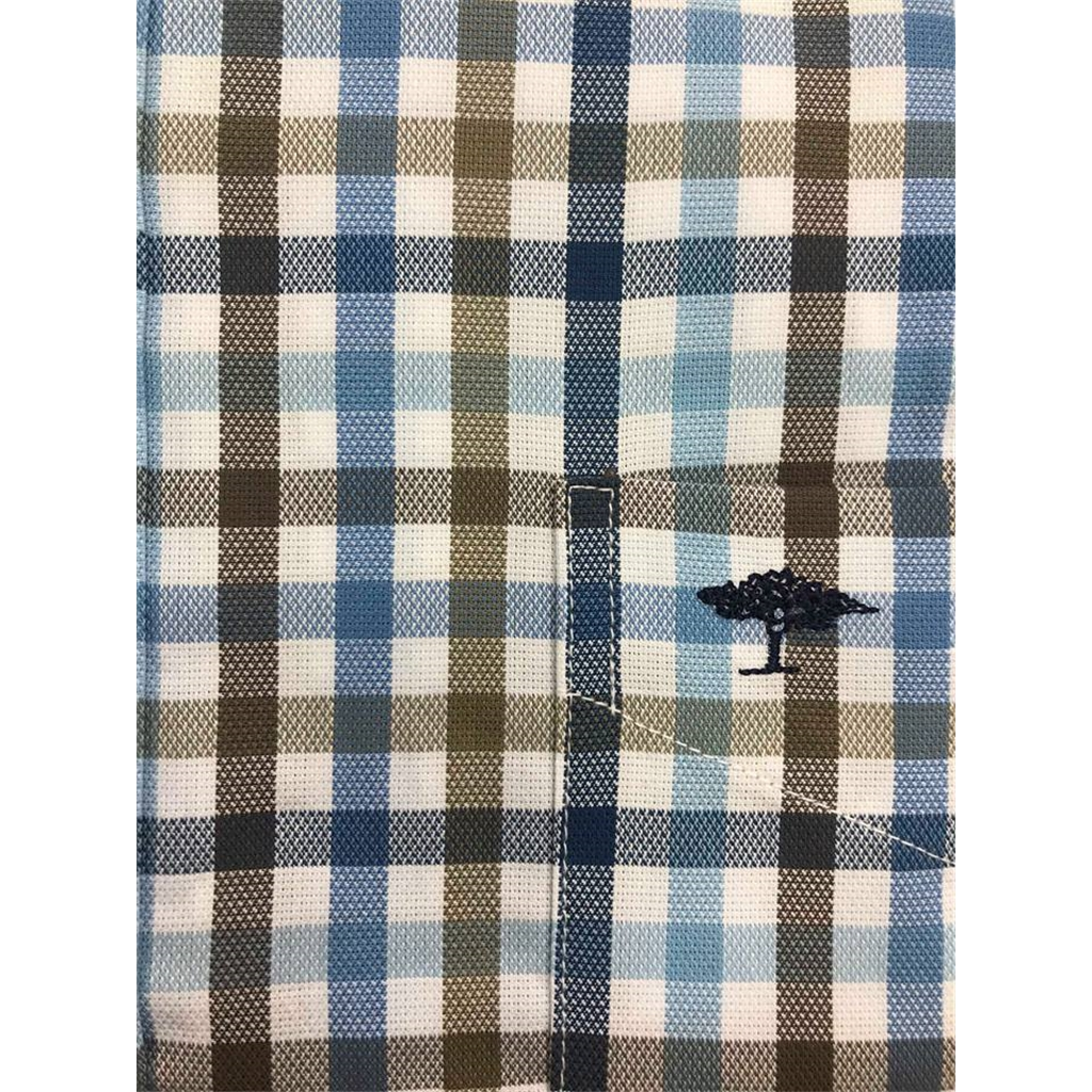 Fynch Hatton Shirt - Blue and Taupe Check