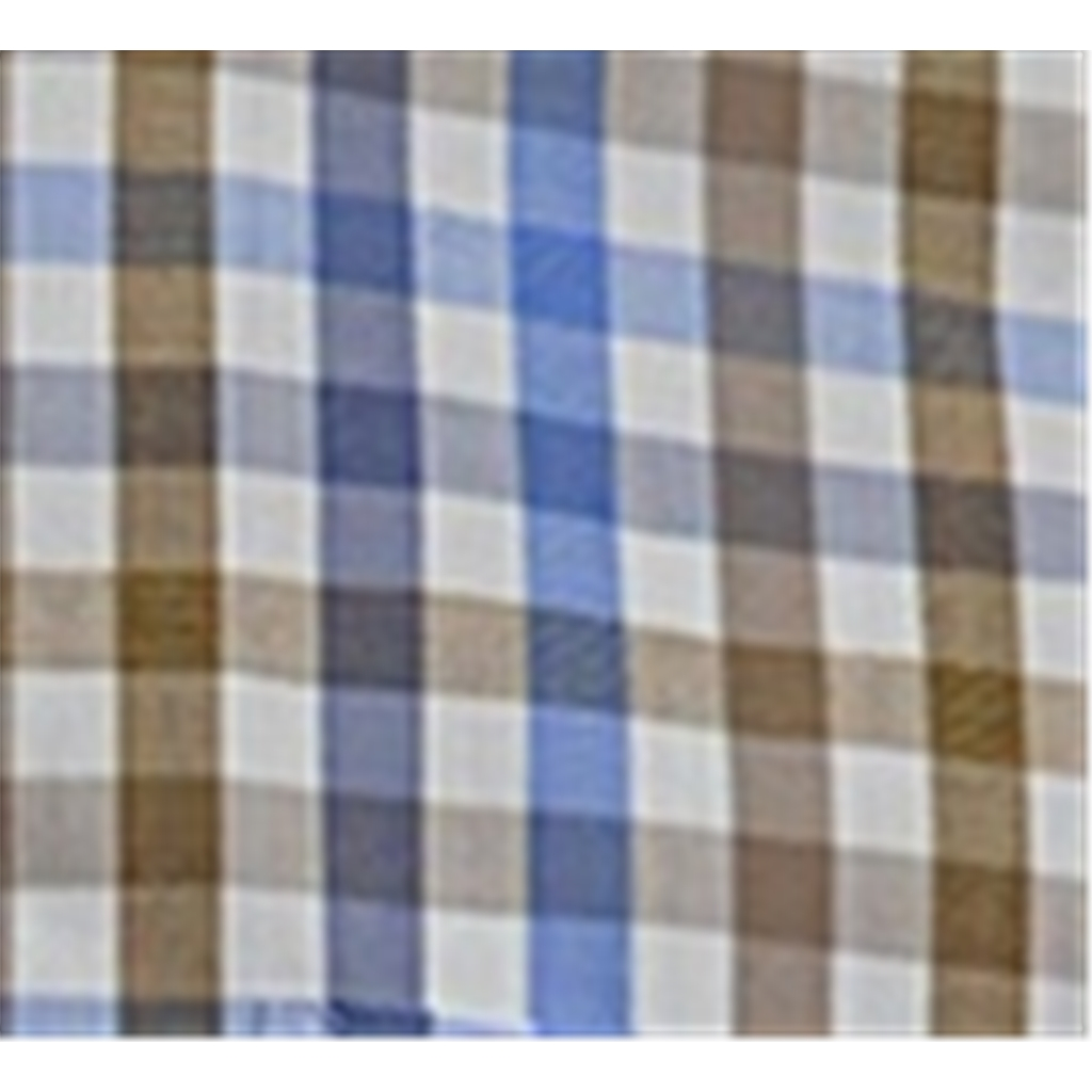 Fynch Hatton Half Sleeve Shirt - Taupe and Blue Check