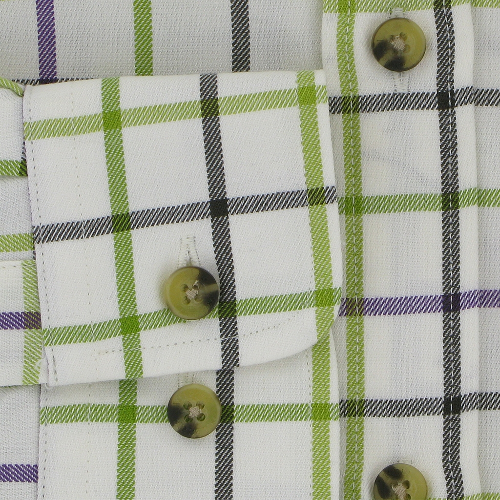 Viyella Tattersall Check Shirt - Green