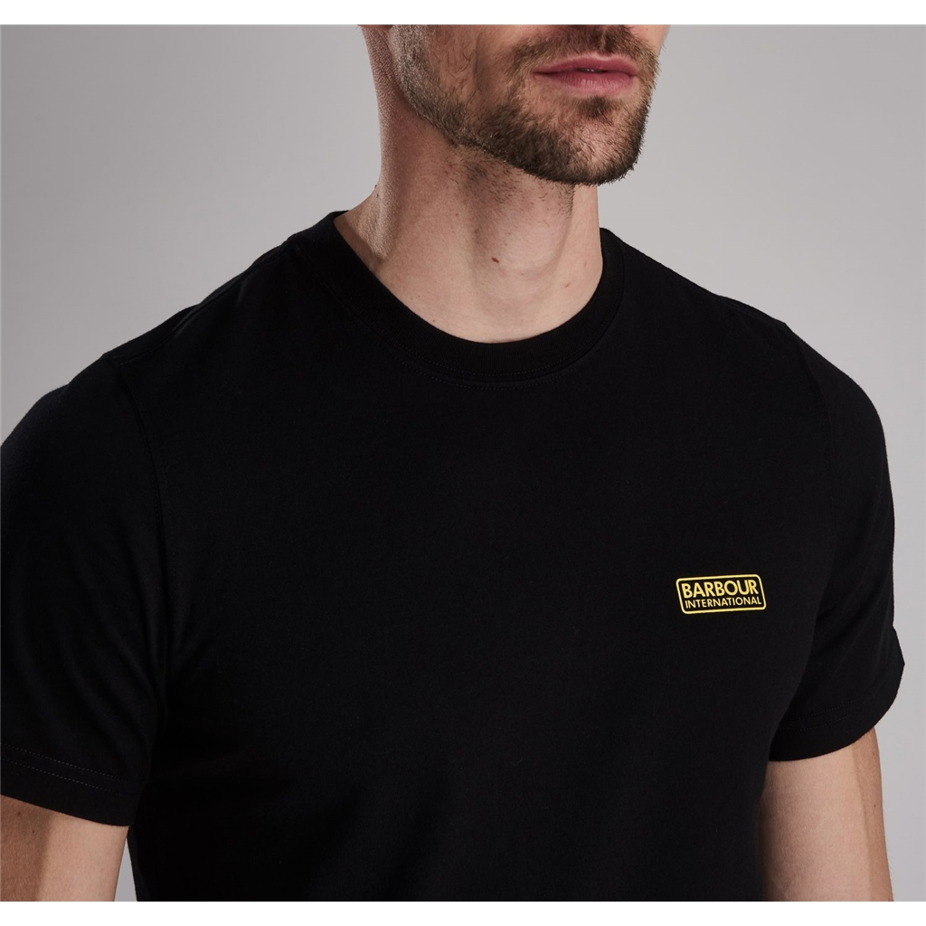 New 2019 Barbour International Men's T-Shirt - Small Logo Tee - Black
