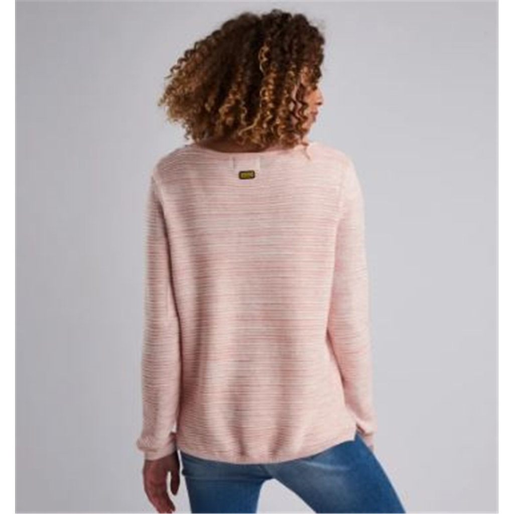 New 2019 Barbour Int. Hartle Knitted Sweater - Rose
