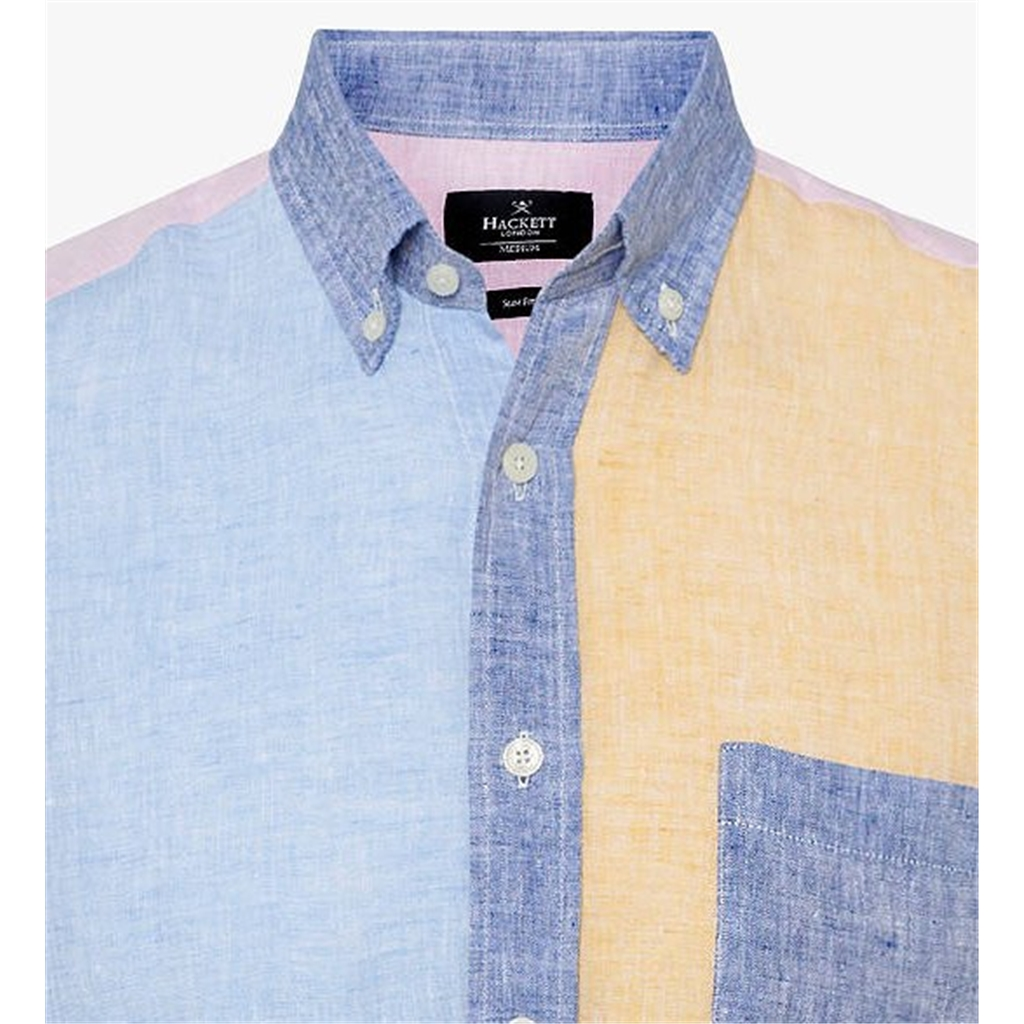 Spring 2019 Hackett Multi Panel Linen Shirt