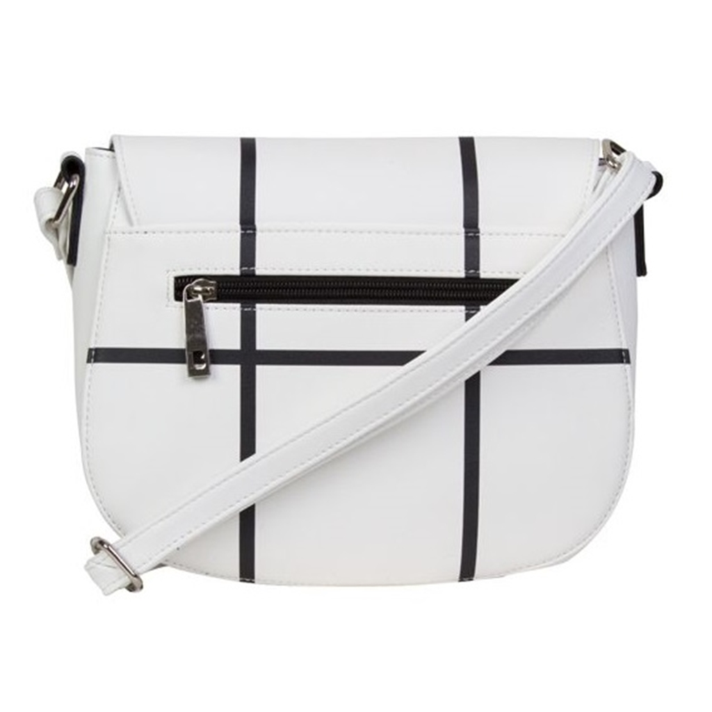 Bulaggi Poppy Cross Body Bag - White Check