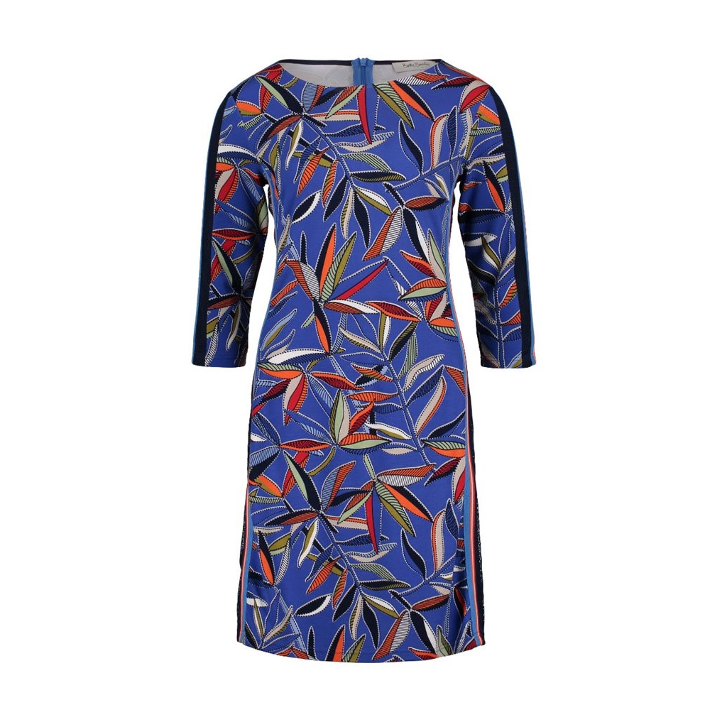 Betty Barclay - Leaf Print Dress - Blue