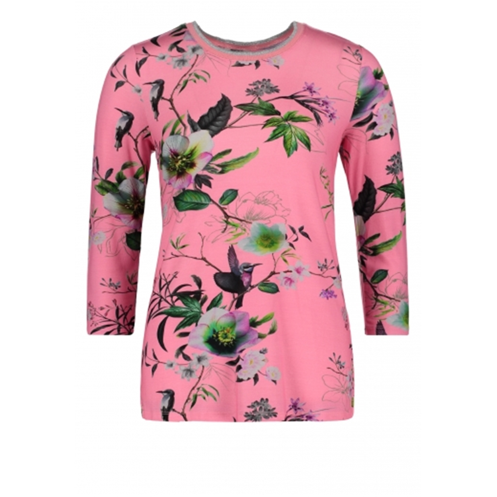 Betty Barclay - Basic Floral Print T-shirt - Pink