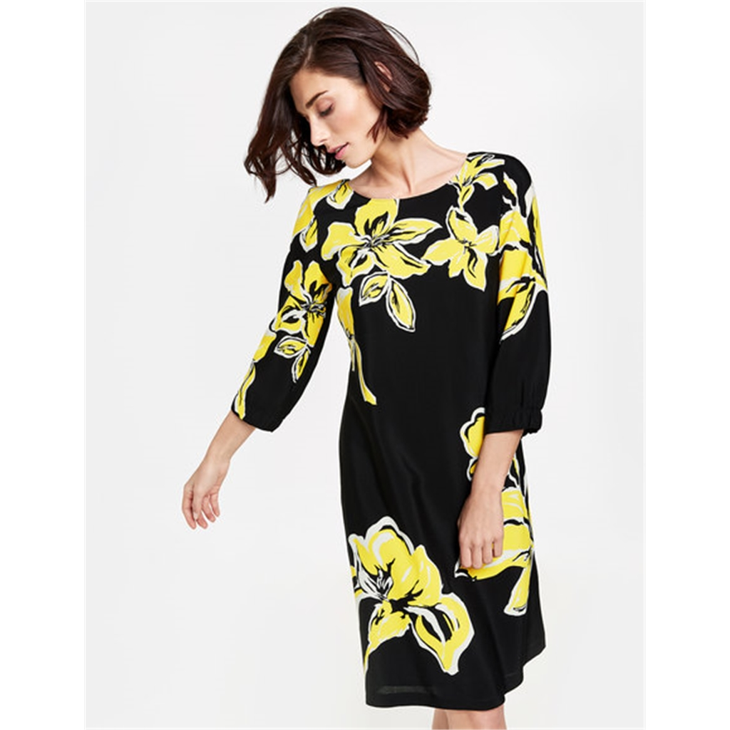 Gerry Weber Opulent Flowers Dress - Black/Lemon