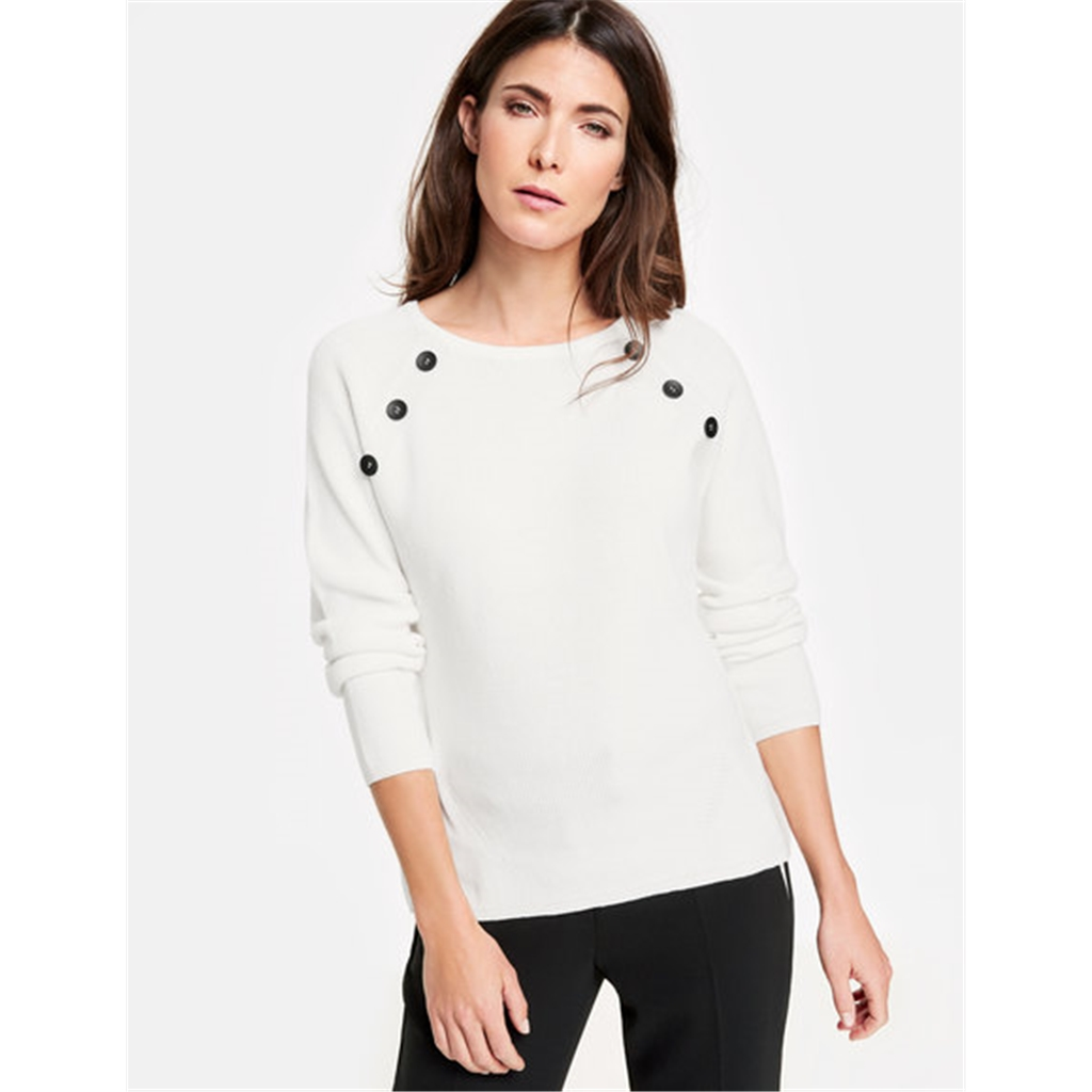 Gerry Weber Button Jumper - White