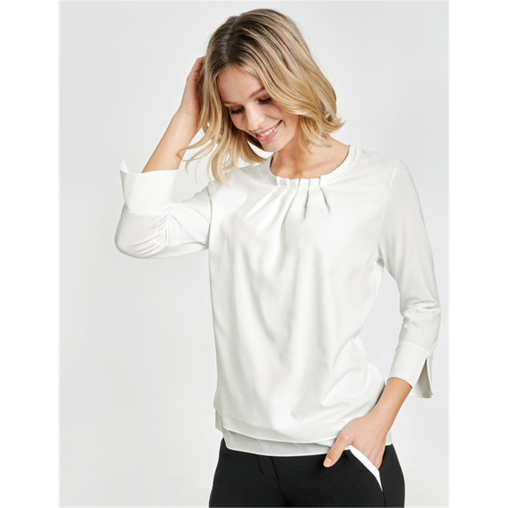 Gerry Weber Pleated Top - Off White