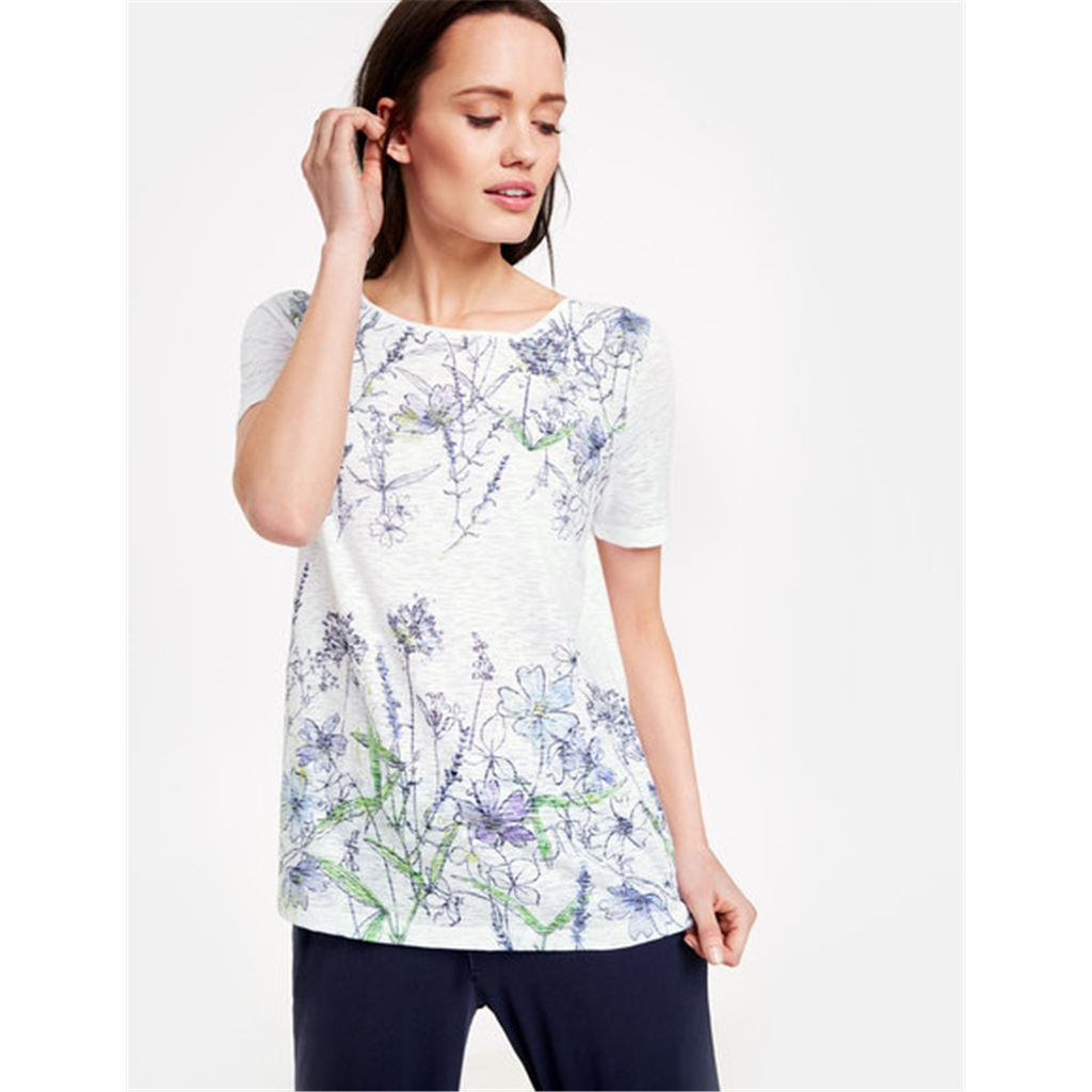 Gerry Weber Floral Top - Lilac/White