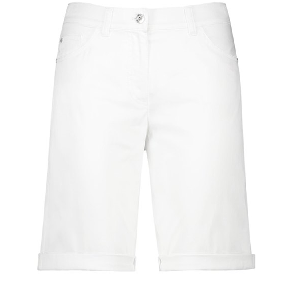 Gerry Weber Shorts with Gathered Hem - White