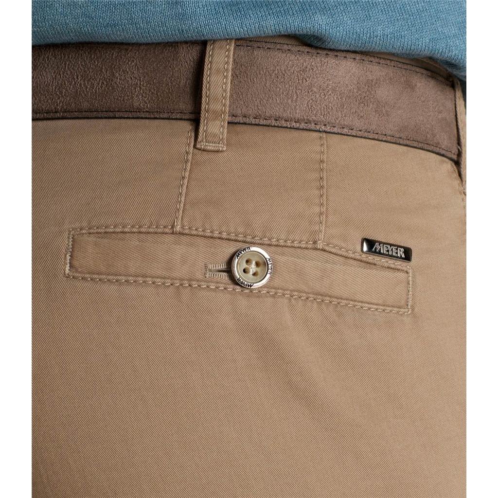 Meyer Trouser Soft Cotton Chino - Beige - Roma 316 33