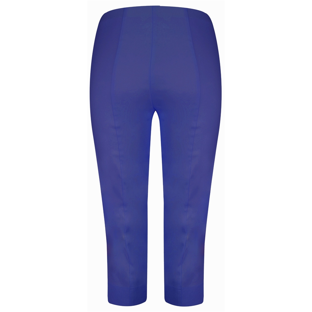 Robell Trousers - Marie Cropped Trouser - Azure