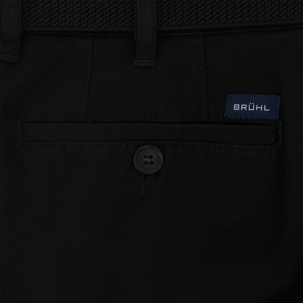 Bruhl Cotton Trouser - Black - Montana 3749 999
