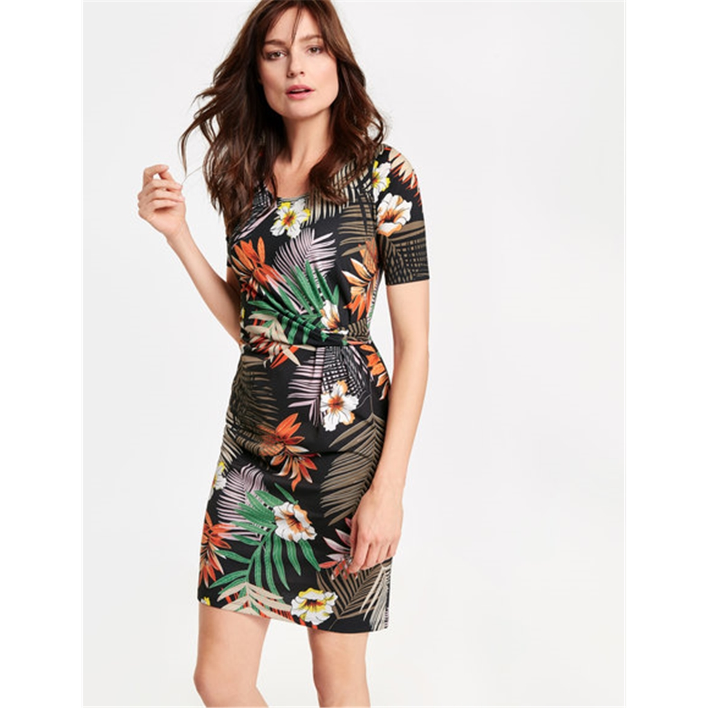 Gerry Weber Floral Dress - Black/Orange