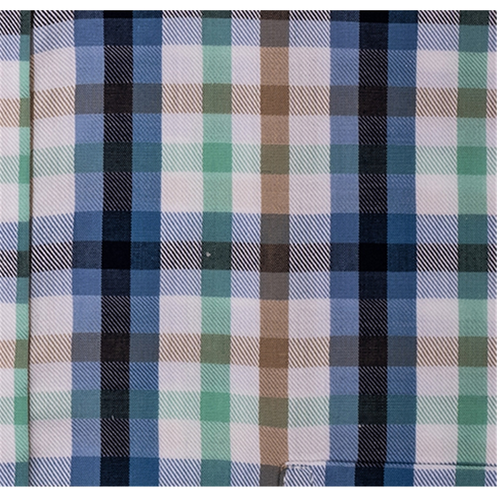 New 2019 Giordano Short Sleeve Shirt - Blue Check