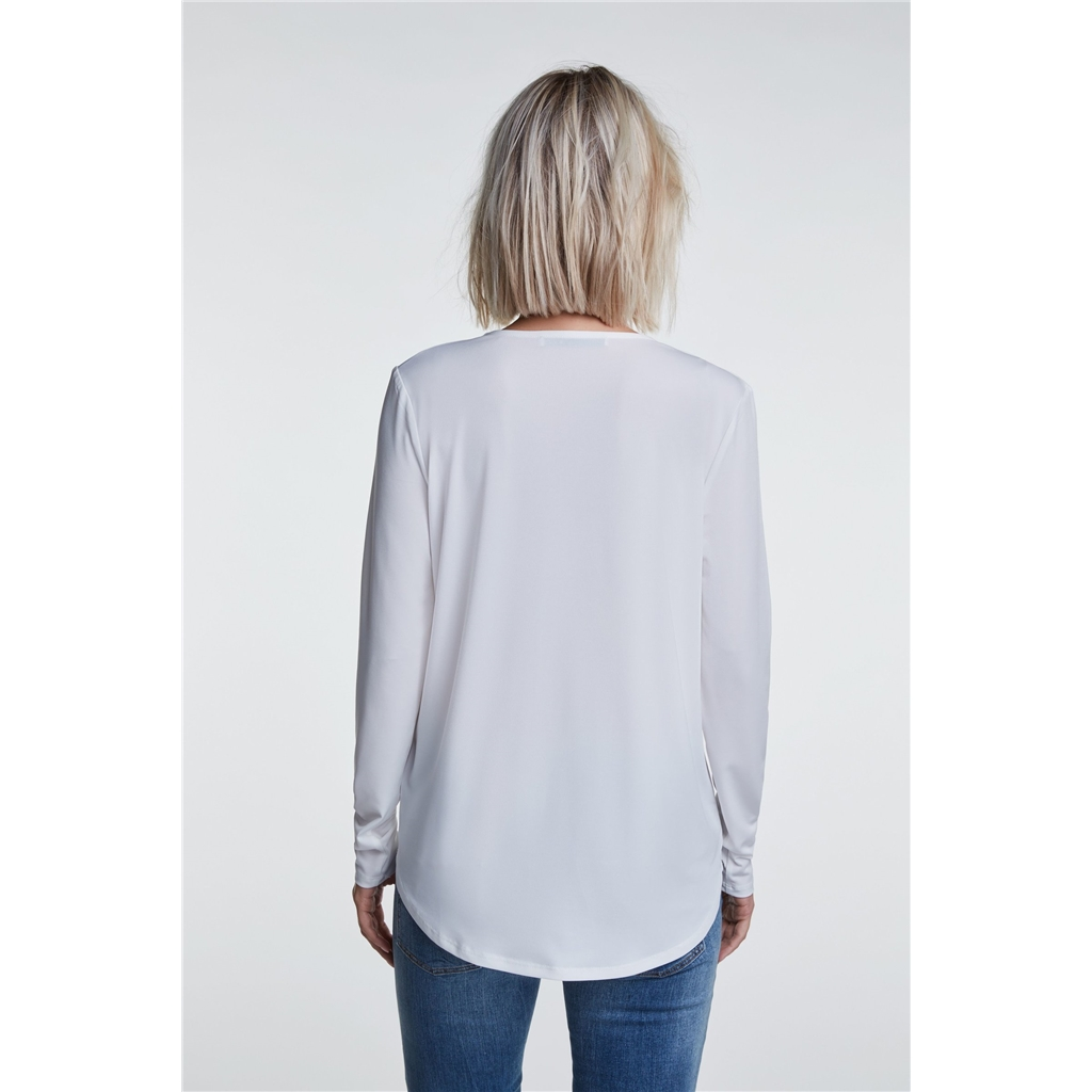 Oui Wrap Blouse - Cloud