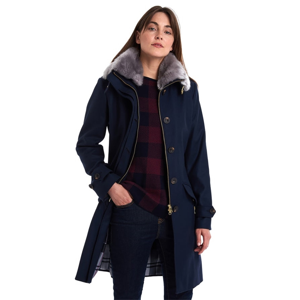 Barbour Moira Wool Coat - Navy
