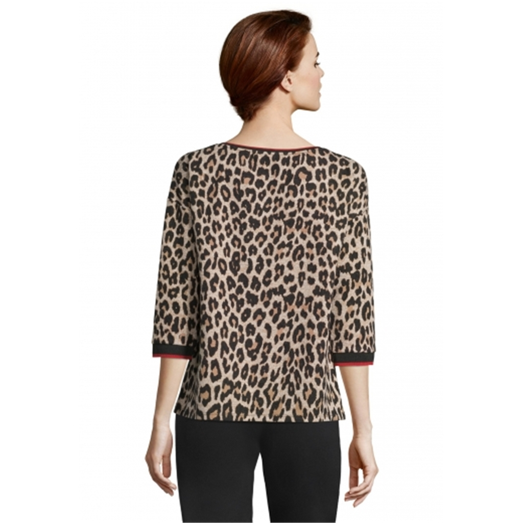 Betty Barclay Leopard Print Top - Tan