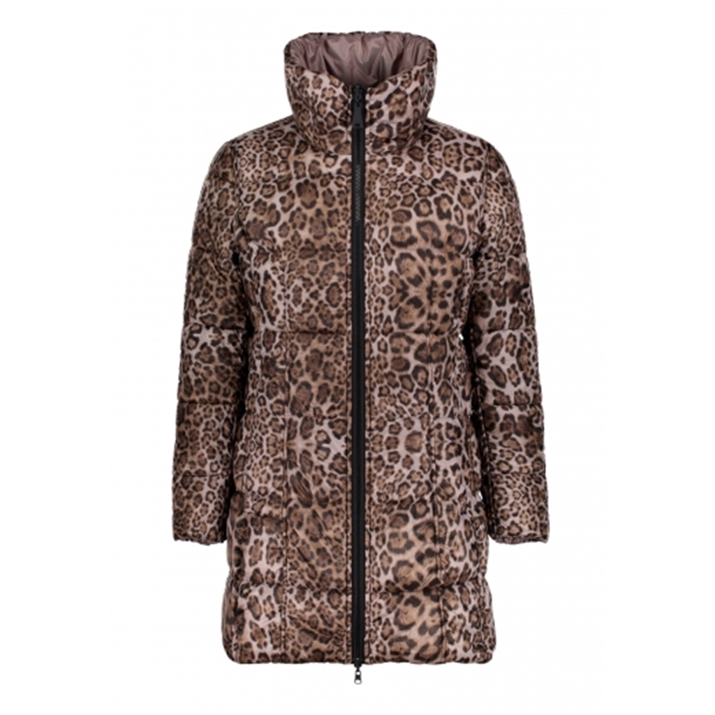 Betty Barclay Reversible Leopard Padded Coat - Grey