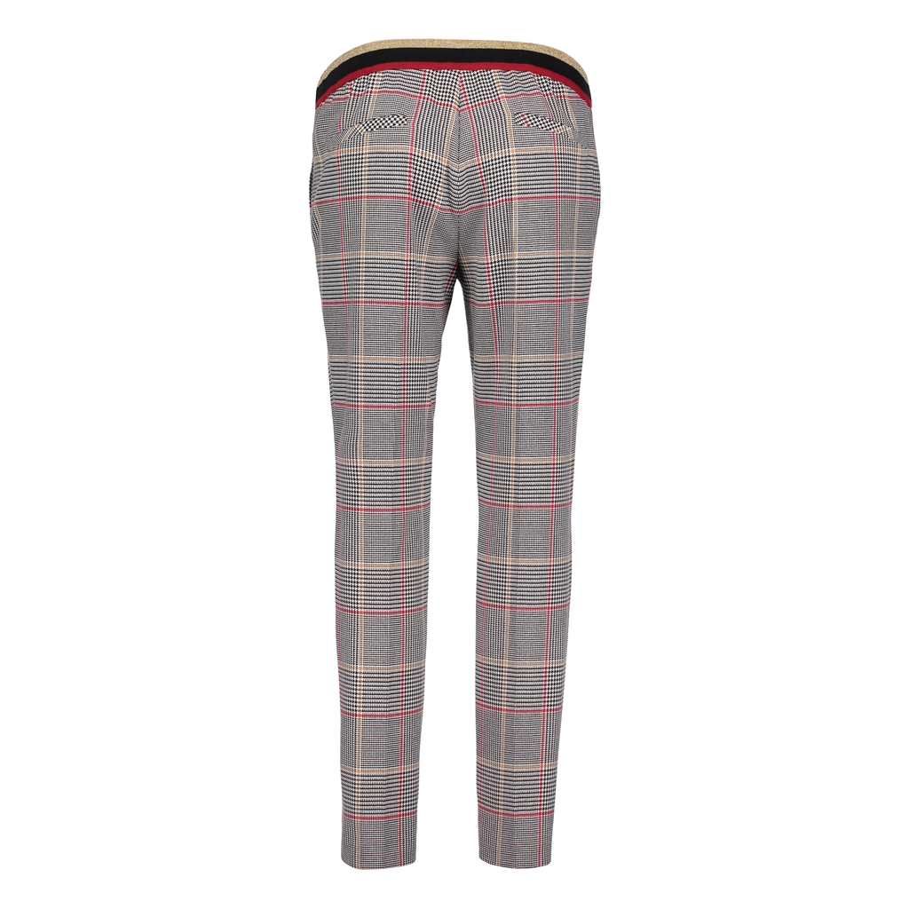 Betty Barclay Checked Trousers - Grey
