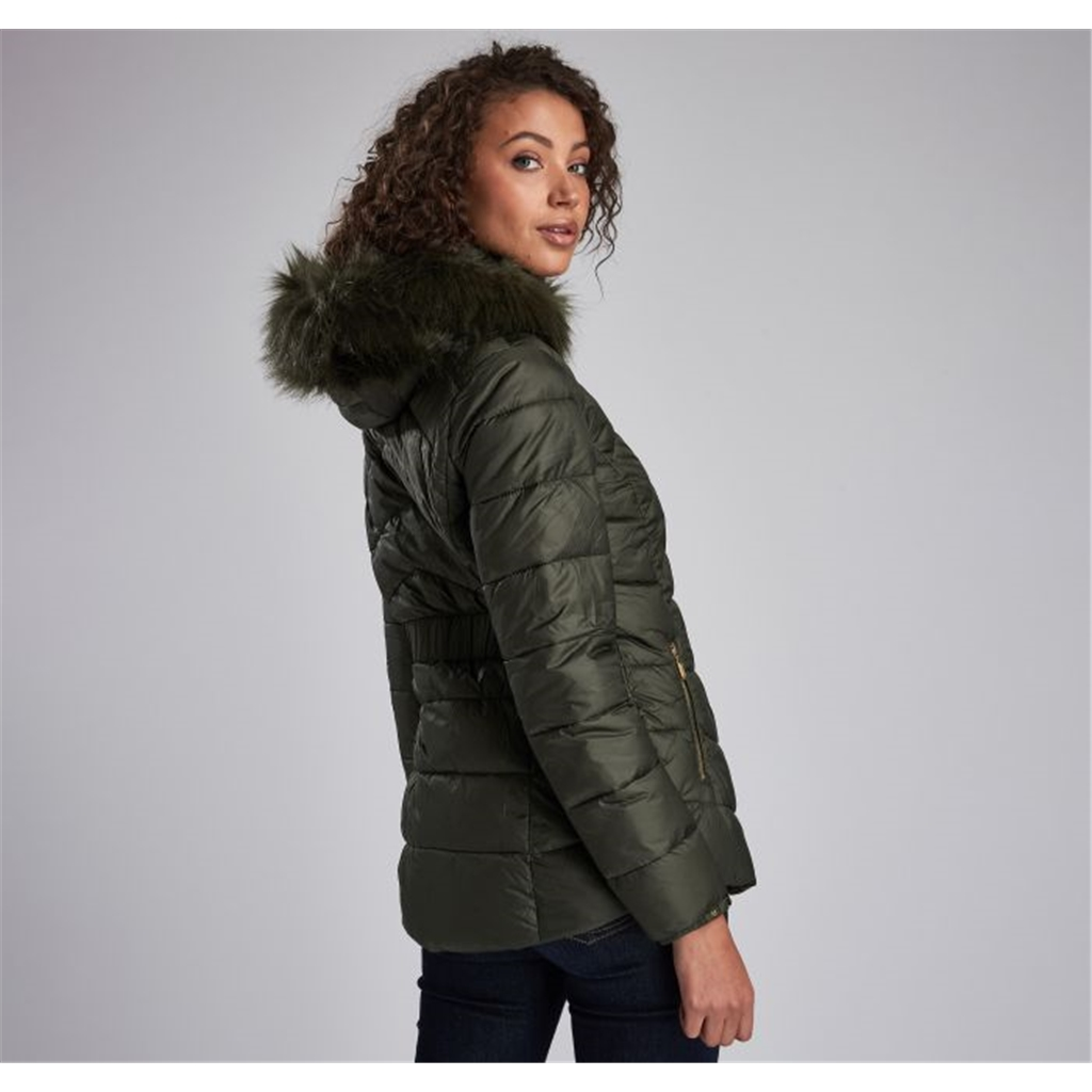 Barbour International Hampton Quilted Jacket - Green