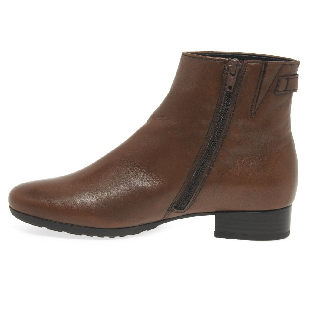Gabor Partner Suede Leather Ankle Boots - Whiskey