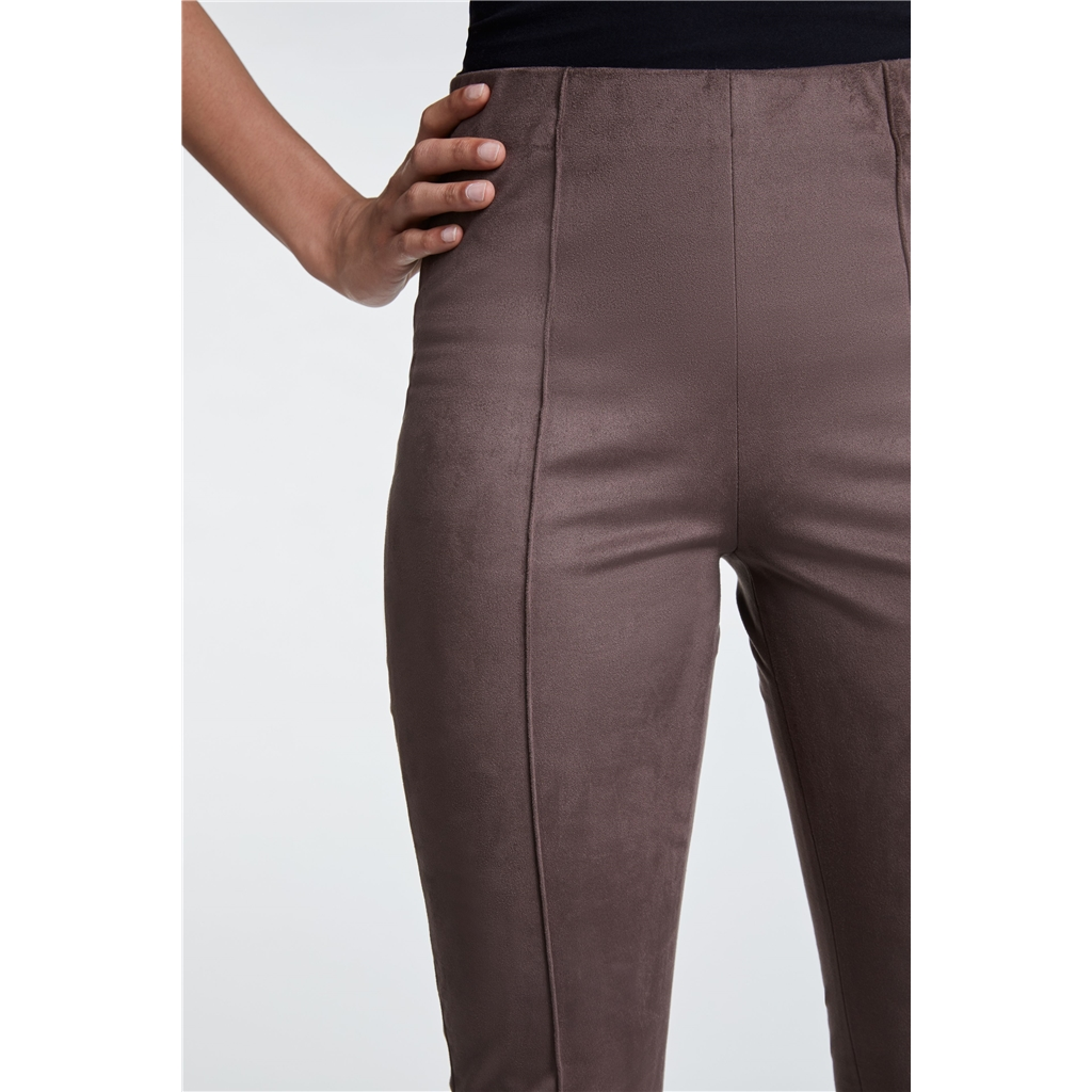 Oui Velour Leggings - Taupe