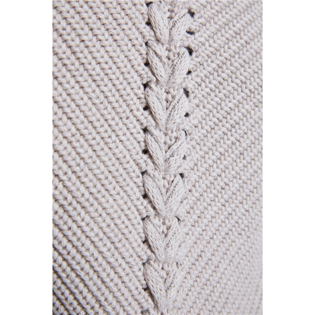 Oui Knit One, Purl One Jumper - Light Stone