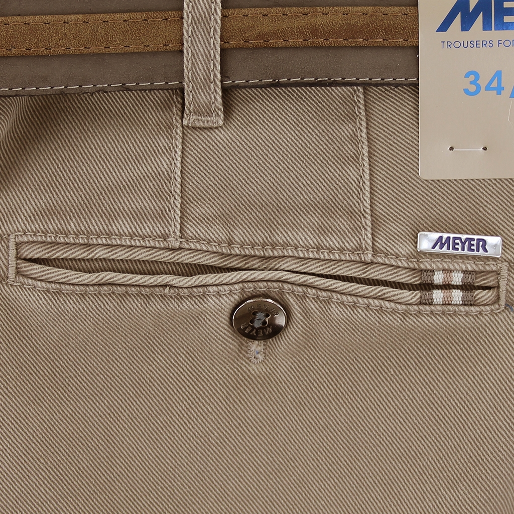 Meyer Cotton Twill Trouser - Truffle - Rio 3512 42 - Online Exclusive