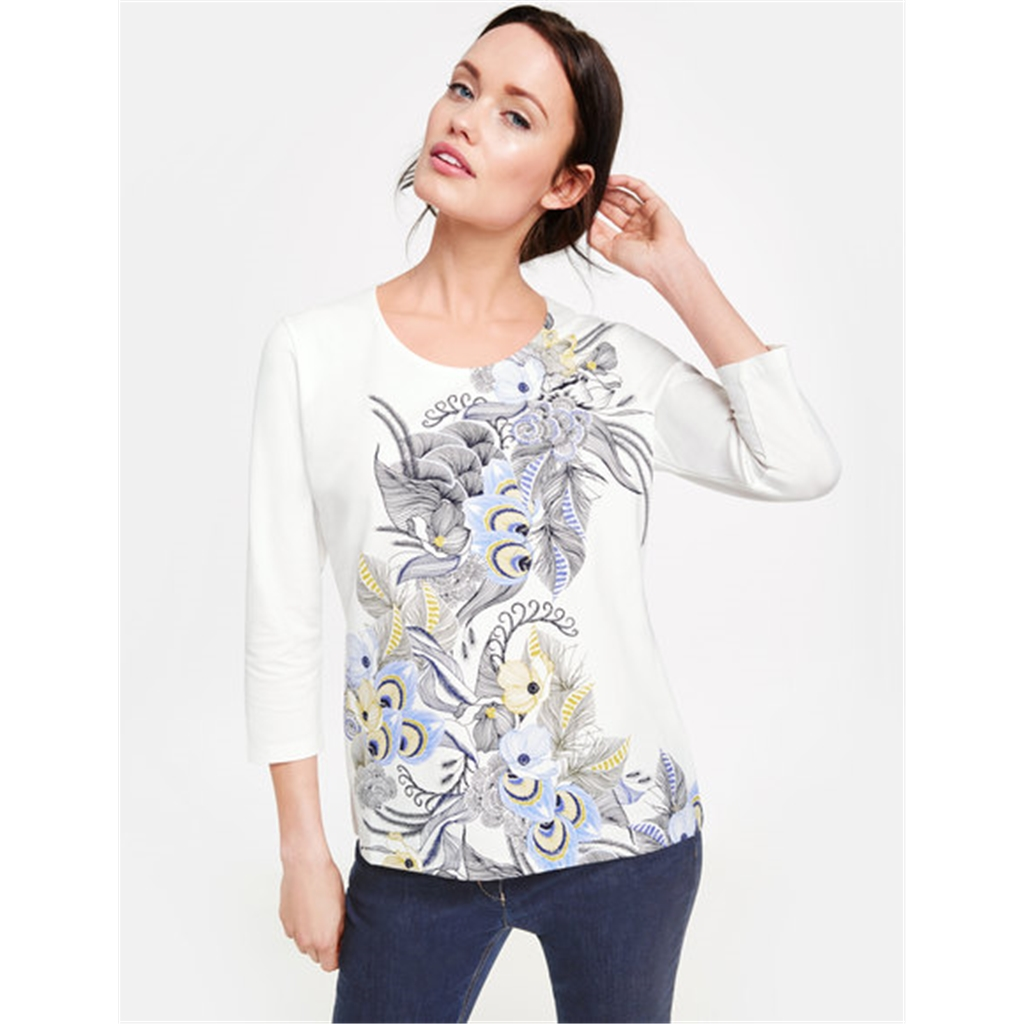 Gerry Weber Patterned Top - White