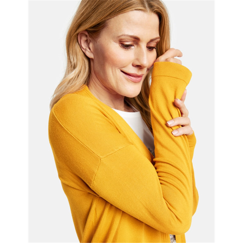 Gerry Weber Long Open Cardigan- Mustard
