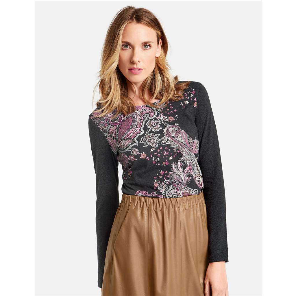 Gerry Weber Paisley Pattern Top - Grey