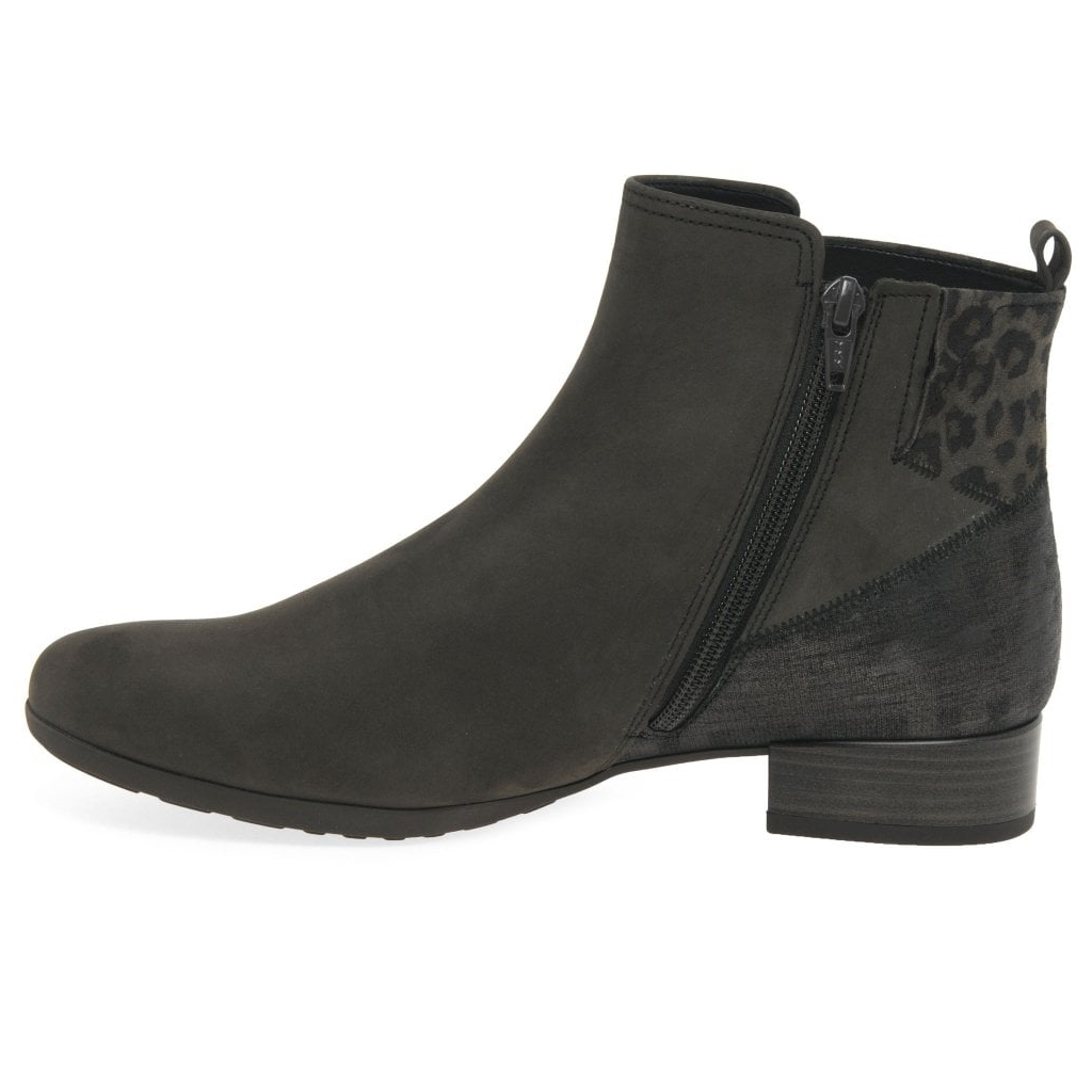 Gabor Bastia Ladies Wide Fitting Ankle Boots - Grey