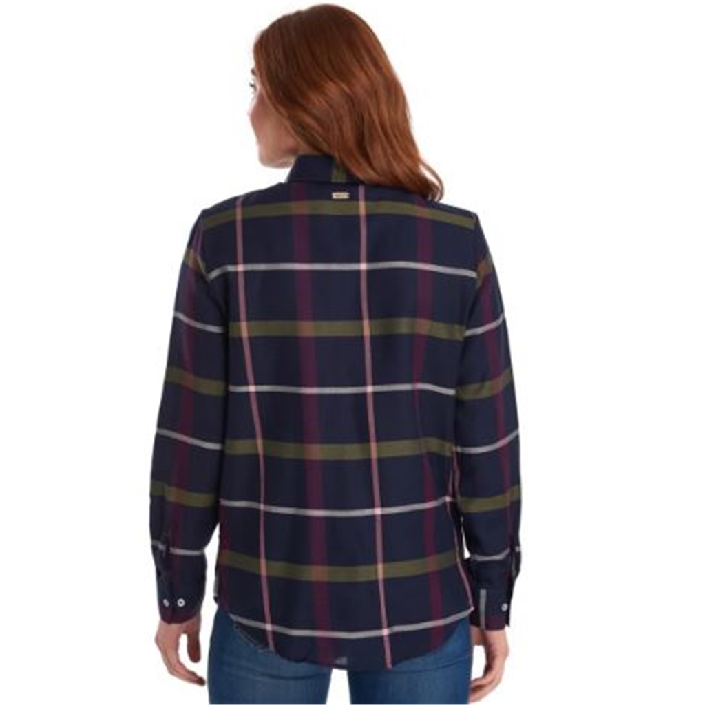 Barbour Oxer Shirt - Navy Check