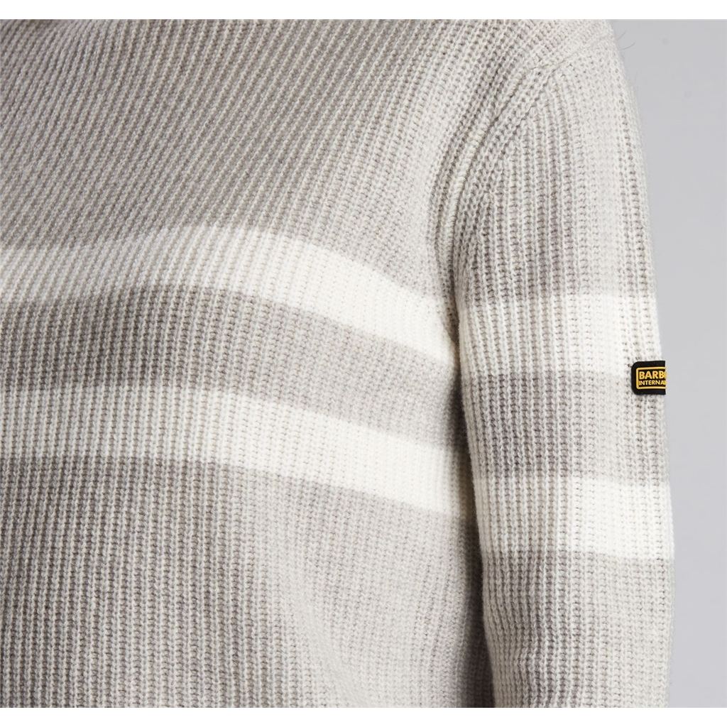 Barbour International Quayle Sweater - Pale Grey Marl