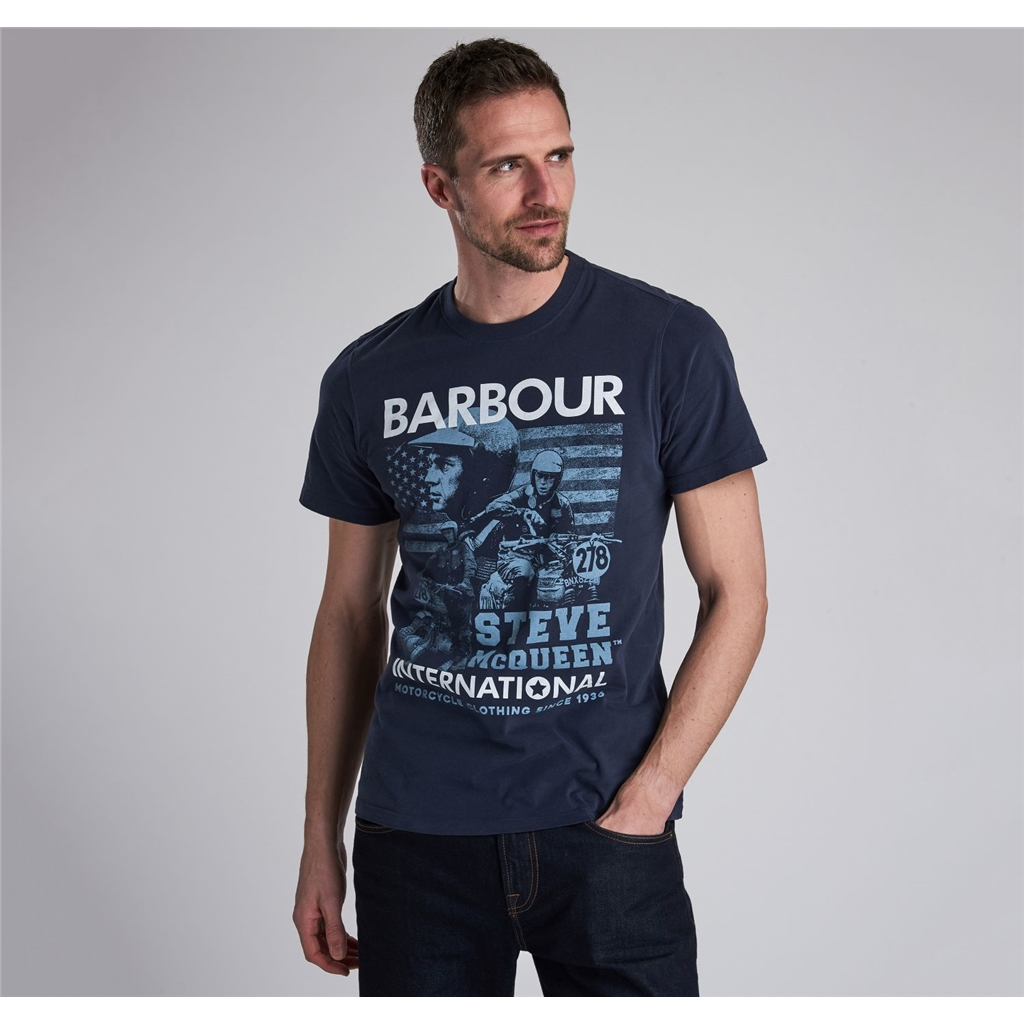 Barbour International Collage Tee - Navy